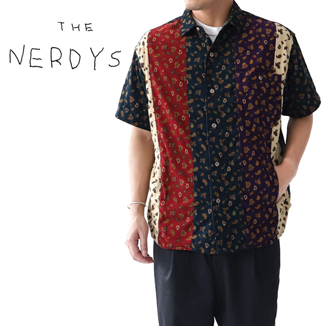 【TIME SALE 40%OFF】THE NERDYS ナーディーズ サマーコーデュロイ クレイジー ペイズリーシャツ NSN-S02 総柄 (メンズ)