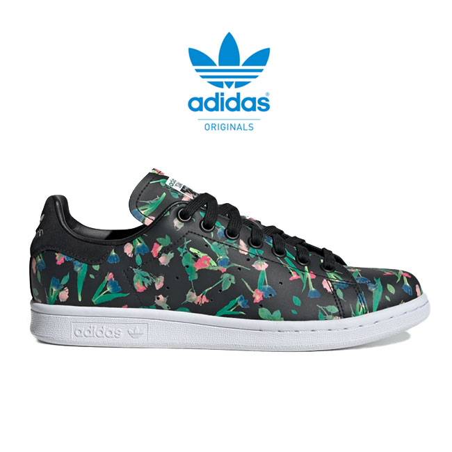 buy popular 6a6b5 3563e adidas originals Adidas flower pattern Stan Smith STAN SMITH W EE4893 whole  pattern leather sneakers shoes (Lady's)