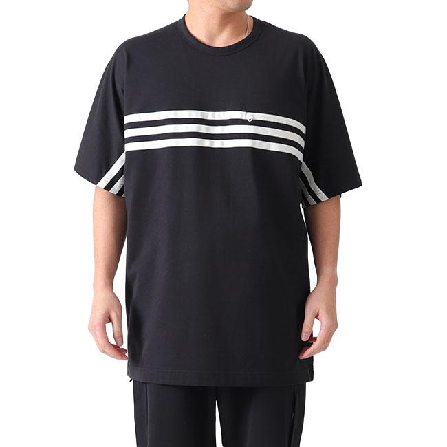 Y-3 ワイスリー 3ライン 胸ポケット Tシャツ FJ0414 半袖Tシャツ Yohji Yamamoto ヨウジヤマモト (メンズ)