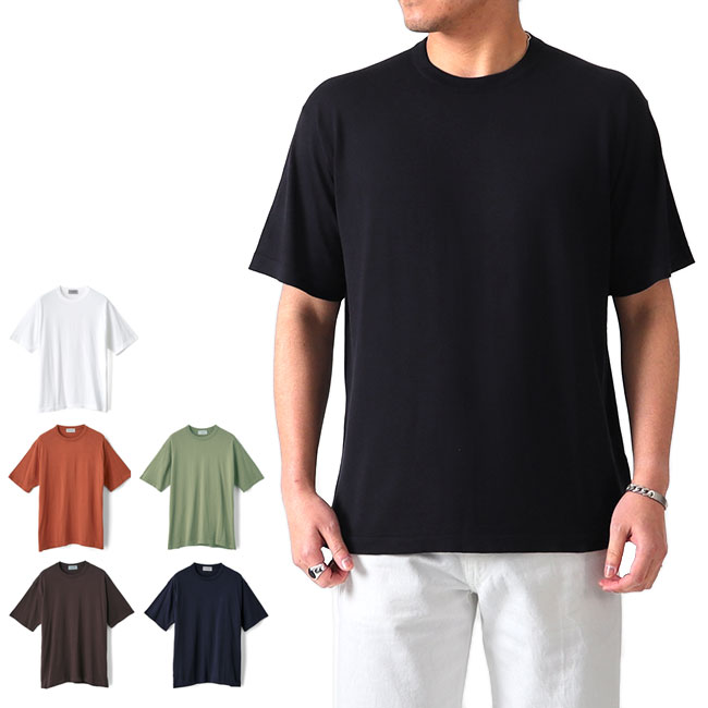 JOHN SMEDLEY ジョンスメドレー 日本別注 30G クルーネック ニットTシャツ S4431 半袖Tシャツ (メンズ)