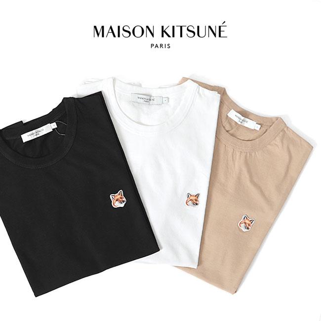 Maison Kitsune メゾン キツネ フォックスヘッド ロゴTシャツ AM00103KJ0008 半袖Tシャツ (メンズ レディース)