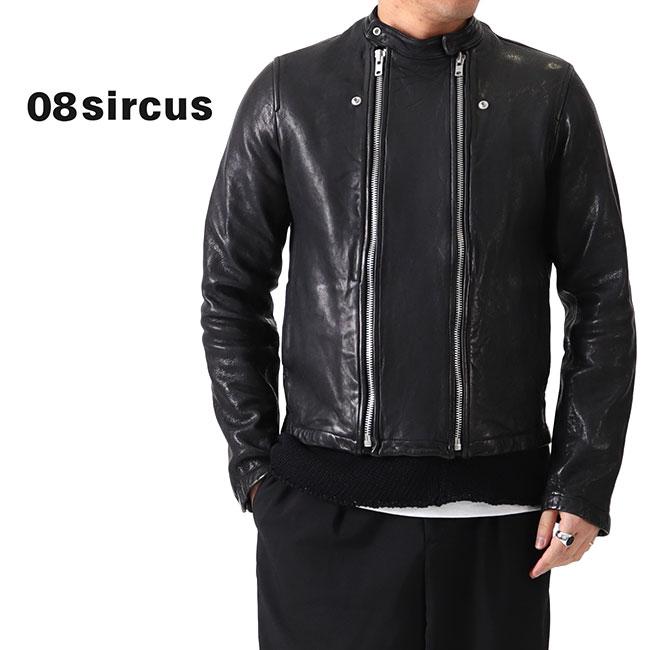 08 sircus 08サーカス シングル レザージャケット S20SM-LE01 ライダースジャケット (メンズ)