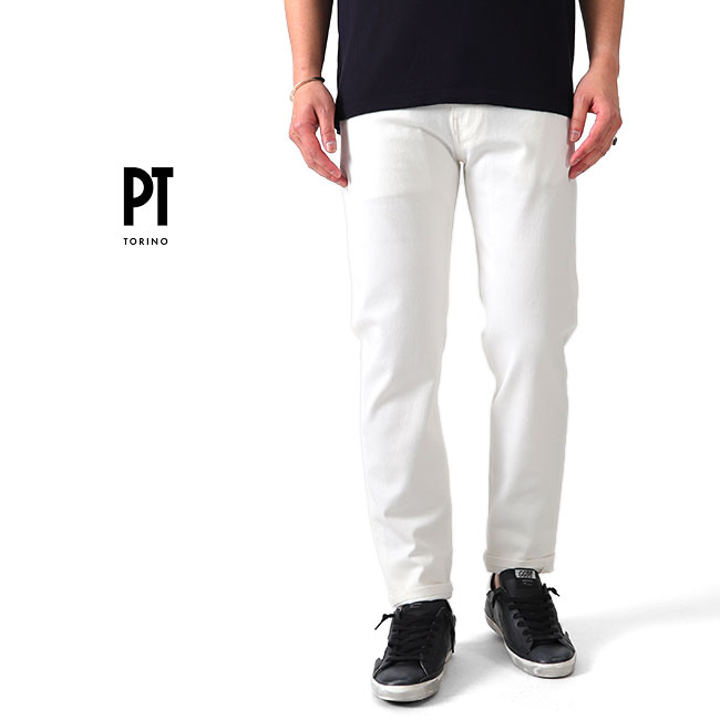 PT TORINO ピーティートリノ SWING スウィング ホワイト デニムパンツ C5DL15Z00GTL ジーンズ (メンズ)