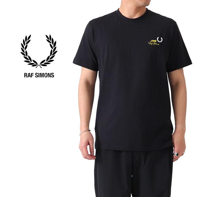 【TIME SALE 20%OFF】FRED PERRY × RAF SIMONS フレッドペリー ラフシモンズ 刺繍ロゴ Tシャツ SM8130 半袖Tシャツ (メンズ レディース)
