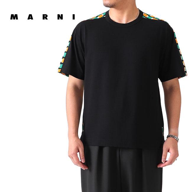 【TIME SALE 30%OFF】MARNI マルニ 切り替え Tシャツ HUMU0009Q0 STJ268 半袖Tシャツ (メンズ)