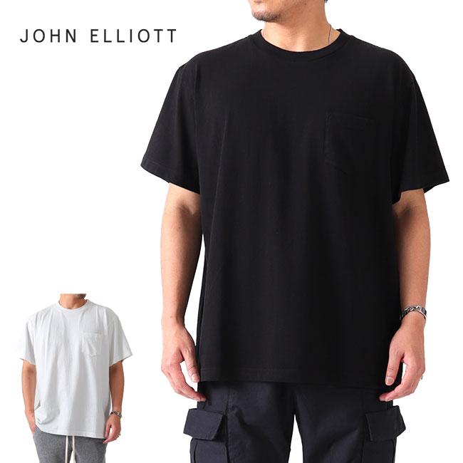JOHN ELLIOTT ジョンエリオット 胸ポケット オーバーサイズTシャツ LUCKY POCKET TEE 半袖Tシャツ (メンズ):Golden State