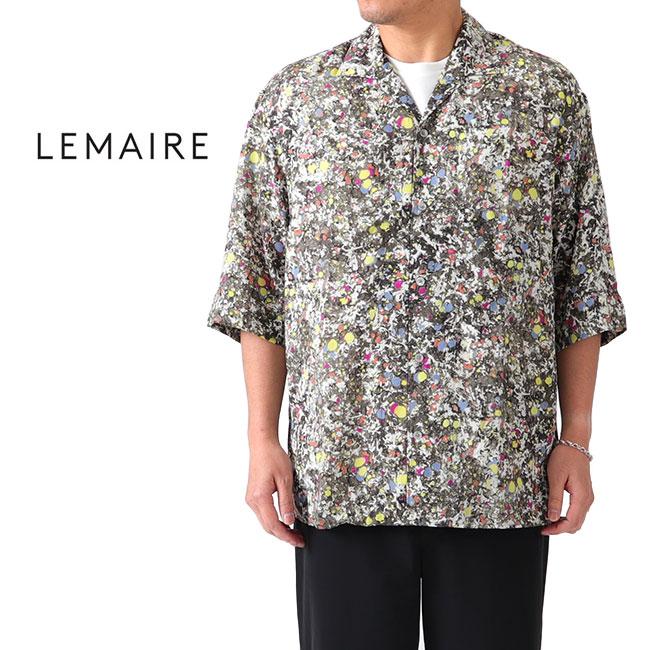 【TIME SALE 20%OFF】LEMAIRE ルメール コンバーチブル マルチカラー 総柄 オープンカラーシャツ M 191 SH139 LF334 レーヨン 半袖シャツ (メンズ)