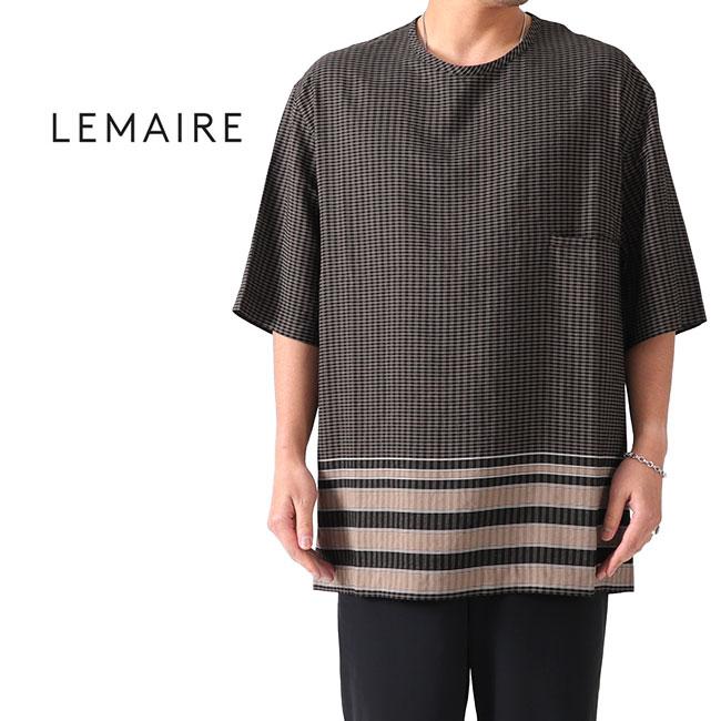 LEMAIRE ルメール シャツ地 チェックTシャツ M 191 TO123 LF331 半袖Tシャツ (メンズ)