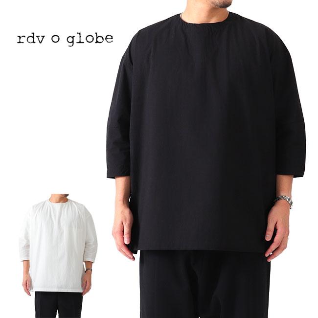 【TIME SALE 20%OFF】rdv o globe ランデヴーオーグローブ 背面ジップ プルオーバーシャツ 181CH006 ロングシャツ (メンズ)