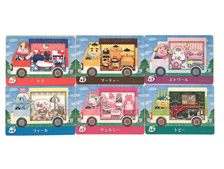 【中古】とびだせ どうぶつの森 amiibo+【限定】 amiiboカード サンリオキャラクターズコラボ 全6種セット