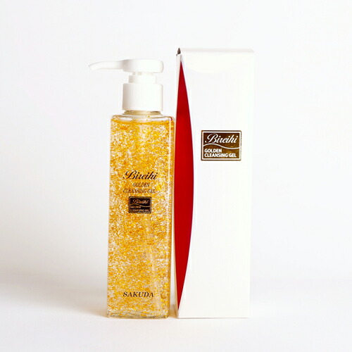[洁面凝胶黄金件、 金化妆品美丽金色叮叮当当凝胶