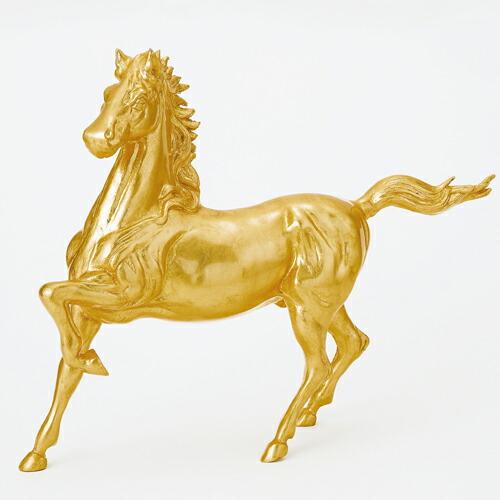 金箔馬置物 「尺5駿馬」 鋳鉄製