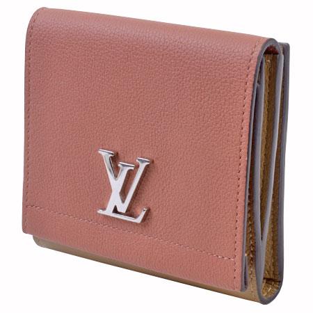ルイヴィトン LOUIS VUITTON Wホック 三つ折り財布 ヴューローズ(ピンク) ポルトフォイユ ロックミー2 コンパクト M67268【中古】