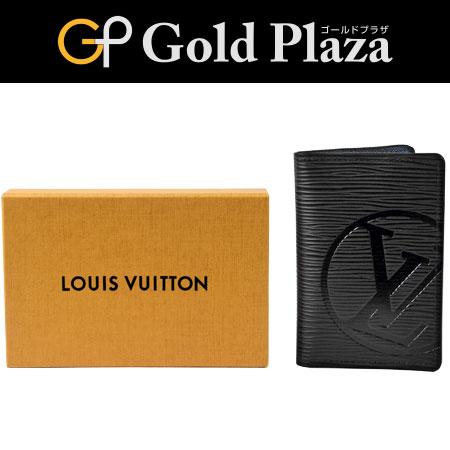 ルイヴィトン LOUIS VUITTON '18年製造 カードケース エピ LVサークル ノワール M63516 オーガナイザー ドゥ ポッシュ【中古】