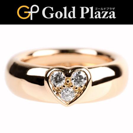 ティファニー Tiffany&Co ダイヤモンド 3P リング ハート モチーフ新品仕上げ済 サイズ:11 K18ローズ(ピンク) 4.9g【中古】