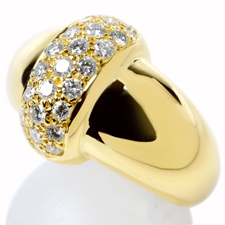 ヴァンクリーフ&アーペル Van Cleef & Arpels パヴェ ダイヤモンド リング K18YG 12.0g 新品仕上げ済【中古】