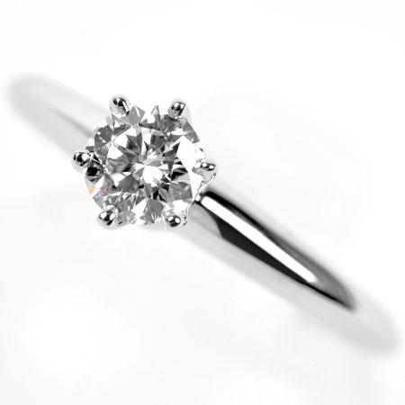 ティファニー Tiffany&Co ダイヤモンド 0.26ct(D/VVS1/3EX) リング #4.5 ソリティア PT950 新品仕上げ【中古】
