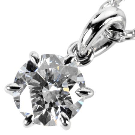 ミキモト MIKIMOTO ダイヤモンド 0.52ct ソリティア スタッド ネックレス PT950 3.2g 40cm ペンダント【中古】