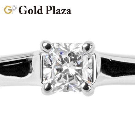ティファニー Tiffany&Co ダイヤモンド 0.27ct(F/VVS2/EX) リング プリンセスカット ルシダ #9 PT950 ソリティア 新品仕上げ【中古】