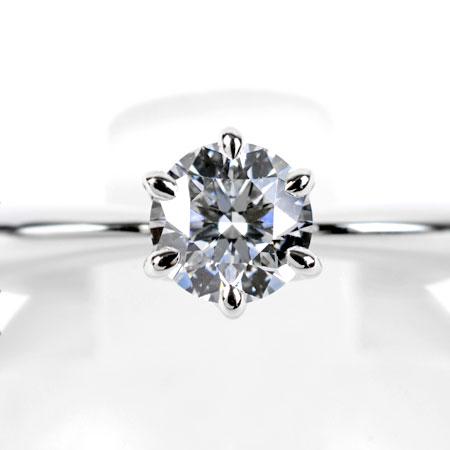 ミキモト MIKIMOTO ダイヤモンド 0.25ct(D/VS2/3EX) ソリティア リング Pt950 3.5g #7 DGR-1500R【中古】