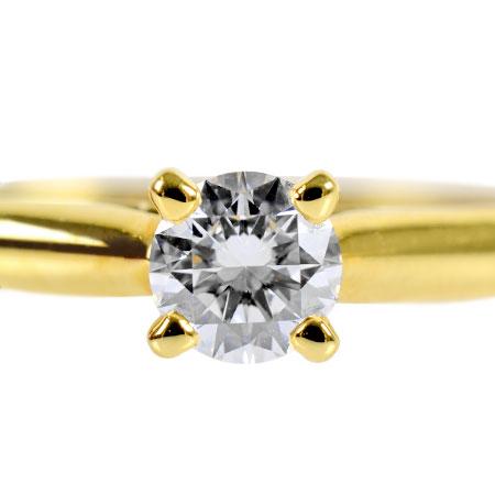 【先着!!クーポンで最大3万円オフ!12/1-3】カルティエ Cartier ダイヤモンド 0.23ct (E/VVS2/3EX) ソリテール 1895 リング #53 K18YG 2.6g N4226800【中古】
