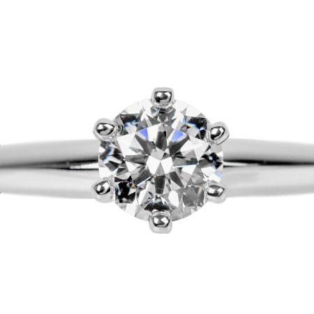 ティファニー TIFFANY&Co. ダイヤモンド 0.43ct ソリティア リング #9 Pt950 4.5g【中古】