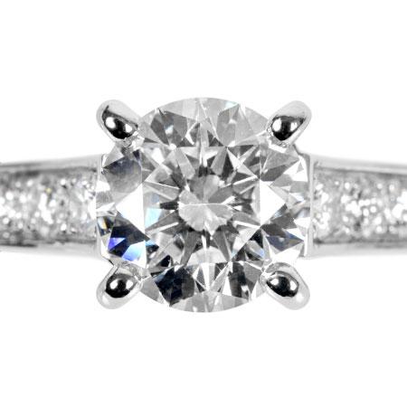 カルティエ Cartier ダイヤモンド 0.99ct (G/VS1/VG) 1895 ソリテール リング #47 Pt950 3.9g N4161800 ハーフエタニティ MKコーフィル【中古】