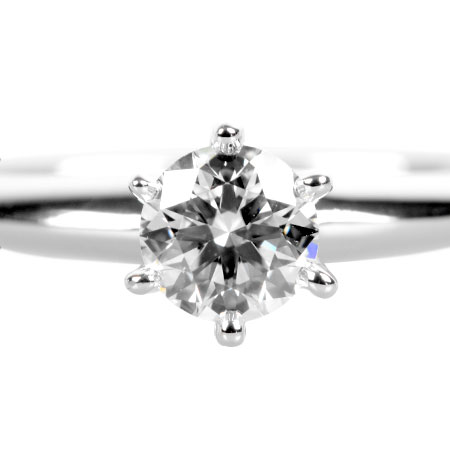 ティファニー TIFFANY&Co. ダイヤモンド 0.33ct (F/VS2/3EX) ソリティア リング #11.5 Pt950 4.4g【中古】