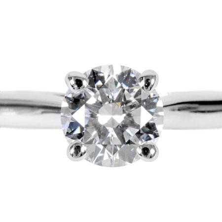 【先着!!クーポンで最大3万円オフ!12/1-3】カルティエ Cartier 1895 ソリテール ダイヤモンド 0.50ct (G/VVS1/3EX) リング #50 PT950 3.3g【中古】