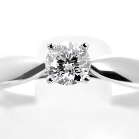 ティファニー TIFFANY&Co. ハーモニー リング ダイヤモンド 0.23ct(H/VS1/3EX) #11.5 Pt950 3.4g ソリティア【中古】