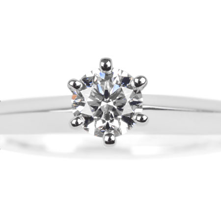 ティファニー TIFFANY&Co. ダイヤモンド 0.24ct ソリティア リング #11 Pt950 3.8g【中古】