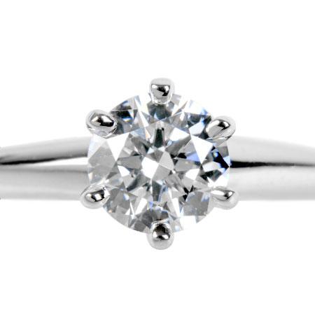 ティファニー TIFFANY&Co. ダイヤモンド 0.40ct ソリティア リング #5.5 Pt950 3.5g【中古】