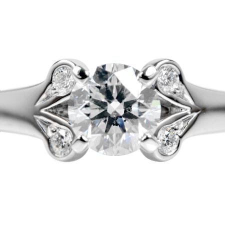 カルティエ Cartier ダイヤモンド 0.40ct (G/VS1/3EX) バレリーナ ソリテール リング #47 Pt950 4.2g N4198200【中古】