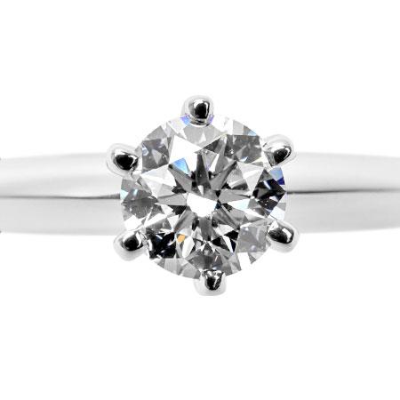 ティファニー TIFFANY&Co. ダイヤモンド 0.30ct(F/VVS2/3EX) ソリティア リング #6.5 Pt950 3.8g ソリテール【中古】
