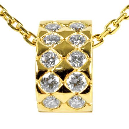 【先着!!クーポンで最大3万円オフ!12/1-3】ブシュロン BOUCHERON ディアマン ダイヤモンド10P ネックレス 44.5cm K18YG 13.8g【中古】