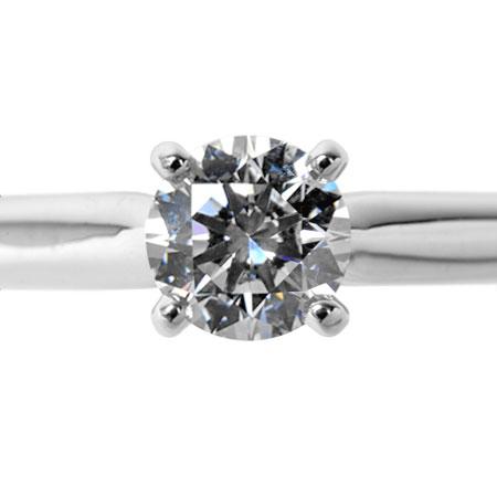 カルティエ Cartier 1895 ソリテール ダイヤモンド 0.36ct リング #51 PT950 MKコーフィル【中古】