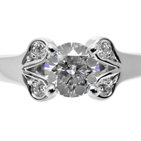 カルティエ Cartier ダイヤモンド 0.35ct (E/VS1/3EX) バレリーナ ソリテール リング #46 Pt950【中古】