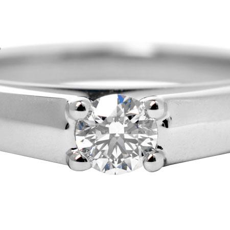 ブルガリ BVLGARI ソリテール ダイヤモンド 0.18ct リング Pt950 #9.5 マリー ミー 853997【中古】