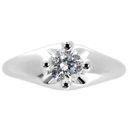 【先着!!クーポンで最大3万円オフ!12/1-3】ブルガリ BVLGARI ダイヤモンド 0.31ct(F/VS1) ソリテール リング コロナ Pt950 6.5g #7.5【中古】