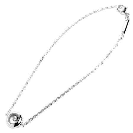 ショパール Chopard ハッピー ダイヤモンド ブレスレット 18cm K18WG 3.6g 85/5447-20【中古】
