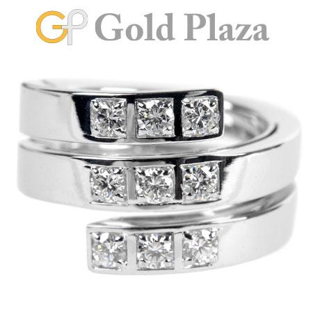 カルティエ Cartier テクトニック 9P ダイヤモンド リング ワイド 3ロウ K18WG(750 ホワイトゴールド) 16.4g #50【中古】