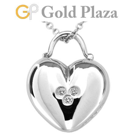 ティファニー TIFFANY&Co. ハート ロック 3P ダイヤモンド ペンダント K18WG(ホワイトゴールド) 5.7g レディース ネックレス 40.5cm【中古】