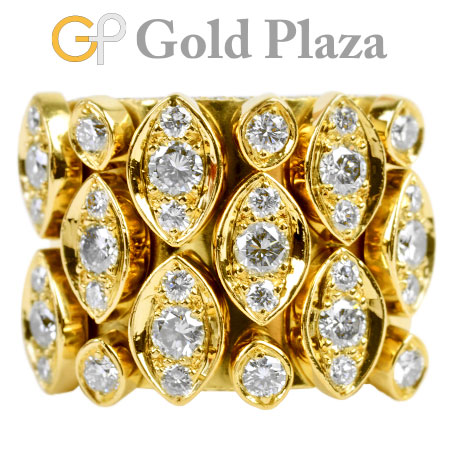 カルティエ Cartier ディアデア ダイヤモンド リング K18YG(イエローゴールド) 21.8g #51 パヴェ N4128700【中古】