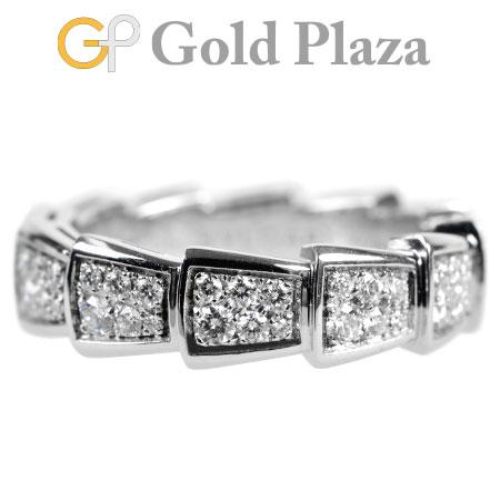 ブルガリ BVLGARI セルペンティ ヴァイパー リング フル パヴェ ダイヤモンド AN857940 K18WG(ホワイトゴールド) 8.9g レディース 指輪 #56 エタニティ 0.85ct【中古】