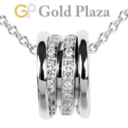 ブルガリ BVLGARI B.ZERO1 ペンダント パヴェ ダイヤモンド K18WG 11.0g ネックレス 40cm 352816【中古】