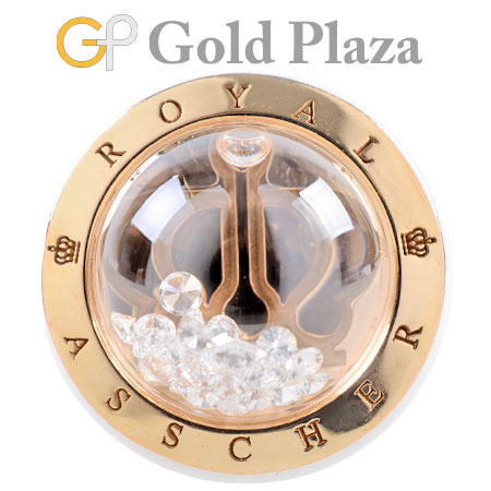 ロイヤルアッシャー ROYAL ASSCHER K18YG セラミック ダイヤモンドリング #11 シャイニングスターズ【中古】