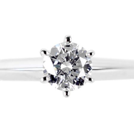 ティファニー TIFFANY&Co. ソリティア リング ダイヤモンド 0.27ct #11 Pt950 3.5g ティファニーセッティング【中古】
