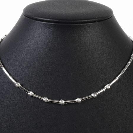 ダミアーニ DAMIANI 7P ダイヤモンド ネックレス K18WG 17.5g 41cm【中古】