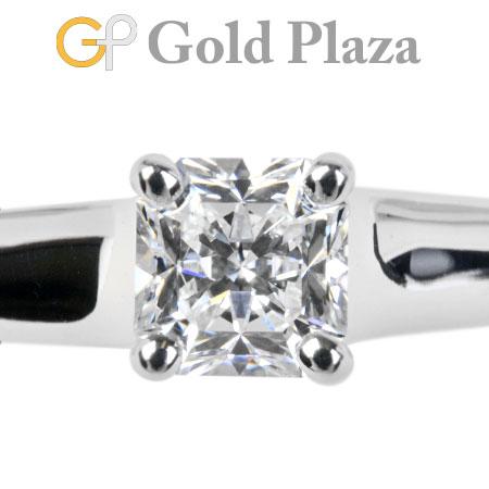 ティファニー Tiffany&Co ダイヤモンド 0.40ct(E/VS1/EX) リング プリンセスカット ルシダ #6.5 PT950 ソリティア 新品仕上げ【中古】