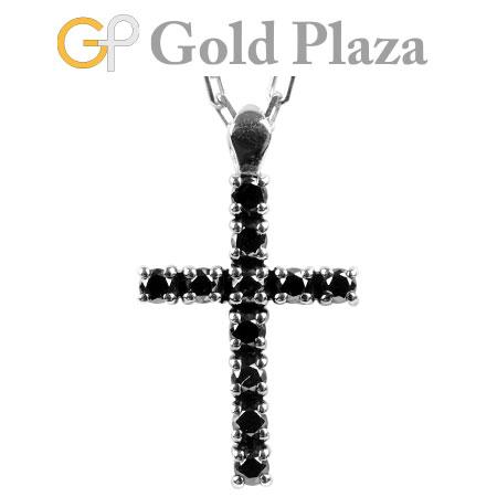 ダミアーニ DAMIANI プレスティージュD ブラックダイヤ ペンダント 20042476 K18WG(ホワイトゴールド) 4.1g レディース ネックレス クロス 十字架 PRESTIGE【中古】